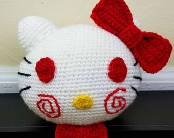 Kitty The Puppet Saw and Hello Kitty Mashup Crocheted Plush