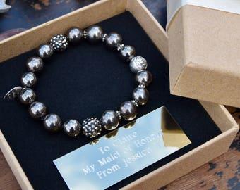 Bridesmaid bracelet - bridesmaids gifts - personalised bridesmaid jewellery