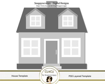 House Photoshop Layered Templates