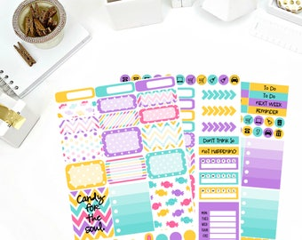 Sweet Tooth Weekly Kit Stickers! Perfect for your Erin Condren Life Planner, calendar, Paper Plum, Filofax!