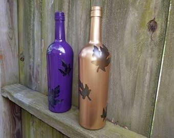 Autumn Leaf Decorative Wine Bottles