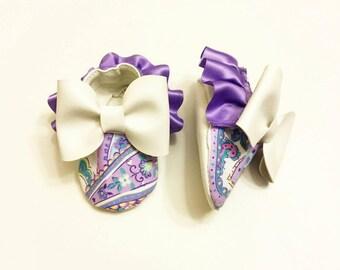Purple paisley shoes