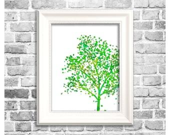 Summer Season Print / Summer Tree Silhouette / Summertime Decor / Printable Home Decor