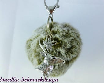 Bag pendant brown Puschel with deer