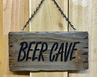 Rustic Beer Cave Sign