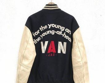 20% OFF Vintage Van Jac Big Logo Varsity Jacket / VanGuards  American Football Team / Casual Jacket / Hip Hop Swag