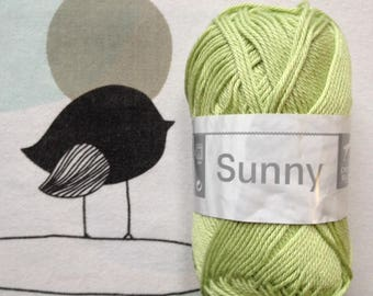 WOOL SUNNY lime - white horse