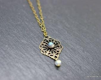 Mini pendant necklace, lace