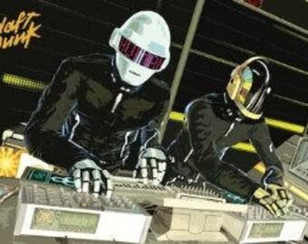 "Daft Punk - DJ Table - 24x36"" Poster"