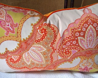 Kravet Couture Drama Queen Hot Crush Pinks Oranges Chartreuse! Custom Pillow Designer Pillow
