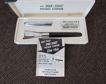 Vintage Duo-Fast Pocket Stapler Like New Free Shipping