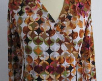 Jerseywickelkleid, retro pattern, colourful, feminine,