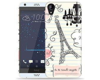 HTC Desire 530 Case - D530 Case #When in Paris Cool Design Hard Phone Case