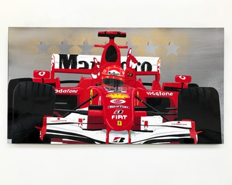Last Victory - Michael Schumacher F1 painting on steel