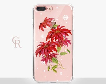 Christmas iPhone X Clear Case -- Clear Case - For iPhone 8 - iPhone X - iPhone 7 Plus - iPhone 6 - iPhone 6S - iPhone SE Transparent