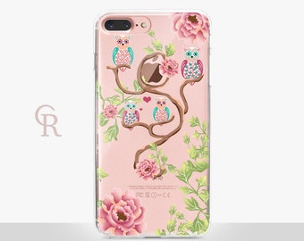 Owl iPhone 7 Clear Case- For iPhone 8 iPhone 8 Plus - iPhone X - iPhone 7 Plus - iPhone 6 - iPhone 6S - iPhone SE - Samsung S8 - iPhone 5