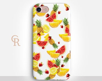Fruit Phone Case For iPhone 8 iPhone 8 Plus iPhone X Phone 7 Plus iPhone 6 iPhone 6S  iPhone SE Samsung S8 iPhone 5 Floral Samsung S7