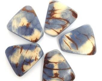 SALE 10% OFF Tagua, squares for bracelets, sky blue, 5 PCs.