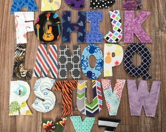 Colorful Fabric Alphabet, ABC Fabric Letters, Children's Learning Tool, Preschool, Homeschool, Baby Shower Gift