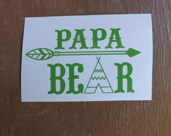 Papa Bear Decal-Vinyl Decals-Yeti Decals-Window Decals- Tumbler Decals- Car decals-Truck Decals-Laptop Decals-Mirror Decals-Cup Decals