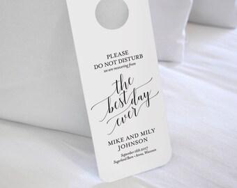Wedding Door Hanger, Please Do Not Disturb Door Hanger, Wedding Itinerary, Welcome Bag, Door Hanger Printable, Wedding Favor #BPB310_11