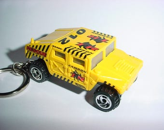 3D Hummer Humvee custom keychain by Brian Thornton keyring key chain finished in yellow color trim metal body truck