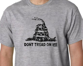 Don't Tread On Me PATRIOT T Shirt Gadsen Snake Flag Military 2nd Amendment USA Revolution Tea Party