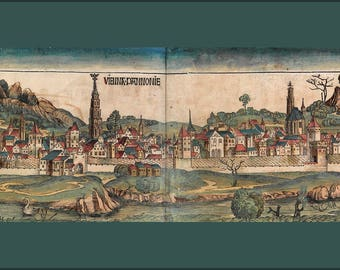 Poster, Many Sizes Available; Vienna In 1493 (From The Nuremberg Chronicle)