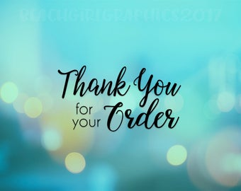 """Blue""""Thank You for your Order""""  Mailing Postcards"""
