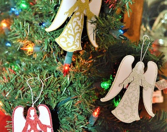 ornament angels, angels, cardstock angels , christmas angels