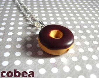 """chocolate donut"" necklace"