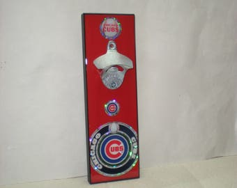 Chicago Cubs wall mounted bottle opener / Chicago Cubs gift