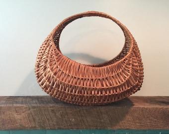 "Vintage Wicker ""Gondola"" Basket"