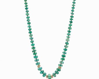 SALE 20 OFF ZAMBIAN Emerald necklace finest quality emeralds may birthstone anniversary gift gift for her gift for mom precious emerald gems
