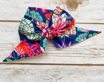 SOUTHERN FLORAL Gorgeous Wrap- headwrap; fabric head wrap; floral head wrap; boho; newborn headband; baby headband; toddler bow
