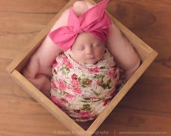 CHERRY BLOSSOM PINK Gorgeous Wrap- headwrap; fabric head wrap; pink head wrap; boho; newborn headband; baby headband; toddler headband