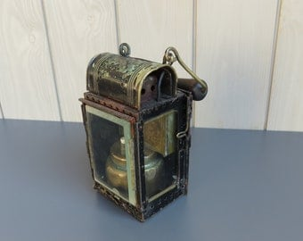 Railway Lamp // Vintage French Lamp // French SNCF lamp // Brass and Glass lamp // French Railway // Acetylene Lamp // Train Lamp or light