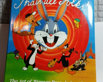 Warner Bros Animation,That's All Folks, Cartoon Art, Bugs Bunny Art, Daffy Duck Art, Sylvester Art, Mel Blanc ,