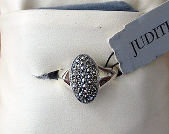 Judith Jack oval Marcasite ring