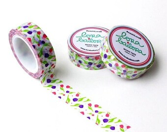 30% OFF ENTIRE STORE Spring Tulips, Washi Tape by Lora Bailora