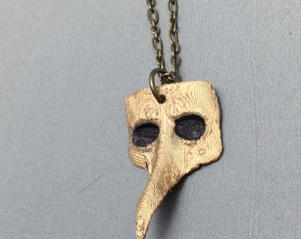 50% off! Plague Doctor necklace, Plague Doctor, steampunk, cosplay, roleplaying, Halloween, goth, 3D printed, gothpunk, Plague Doctor mask