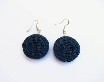 ore chocolate polymer clay cookie earrings