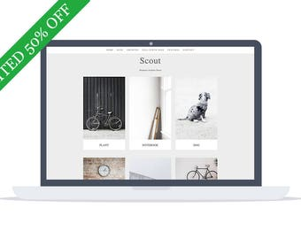 50% OFF - Scout - Portfolio WordPress Theme - Portfolio Template - Minimal Theme - Website Template - Self Hosted - Instant Download