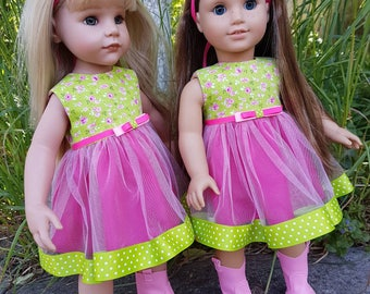 18 inch  Doll Clothes. Clothes - Fits American Girl Doll.   Dress.