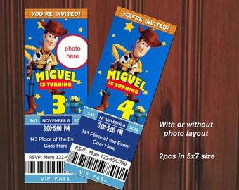 Toy Story Invitation. Toy Story Birthday Invitation. Toy Story Party. Toy Story Birthday. Woody. Ticket Style Invites. Digital (you print)