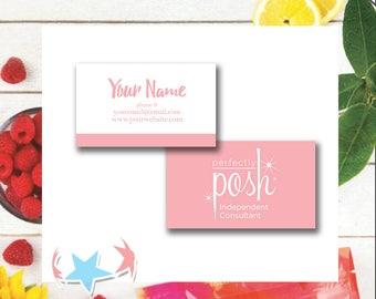 Perfectly Posh Business Cards   Digital or Print   sku805