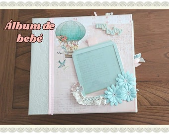 Baby's first scrapbooking album year of life. Photo album idea gift for boy or girl. Heaven Sent.