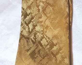 Wemlon by Wembley Necktie Tie Gold 1970s Vintage Free US Shipping