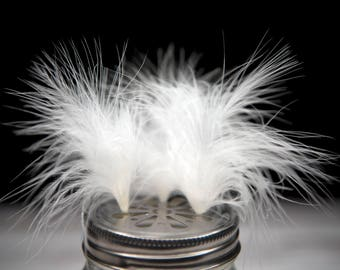 Very Fluffy White Turkey Marabou Feathers 7 - 10cm - Great for wedding favours, Easter crafts, jewellery, millenary + dream catcher making!