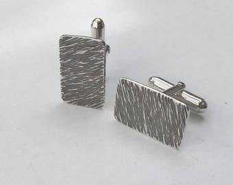 Hammered silver cufflinks/handmade silver cuff links/sterling silver cufflinks/antiqued silver cufflinks/hallmarked silver cufflinks